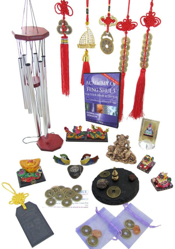 2021 Feng Shui deluxe cures and enhancers kit with Academy of Feng Shui software