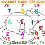 November 2020 Flying star chart