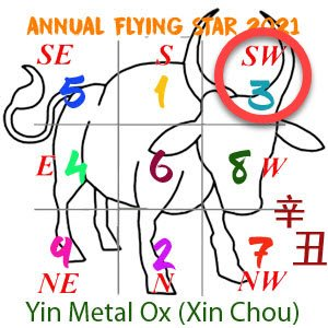 2021 Annual Feng Shui number 3 star