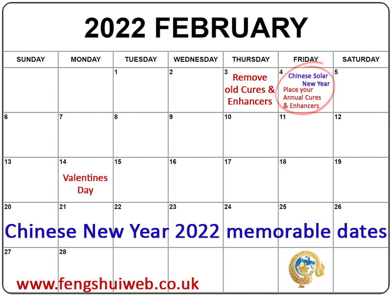 Chinese New Year 2022 memorable dates